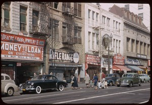 200 block of South Main St. Los Angeles on Sunday- Charles Cushman, Charles W. Cushman Photograph Collection (CWCPC), Indiana University Archives, Indiana University, Bloomington